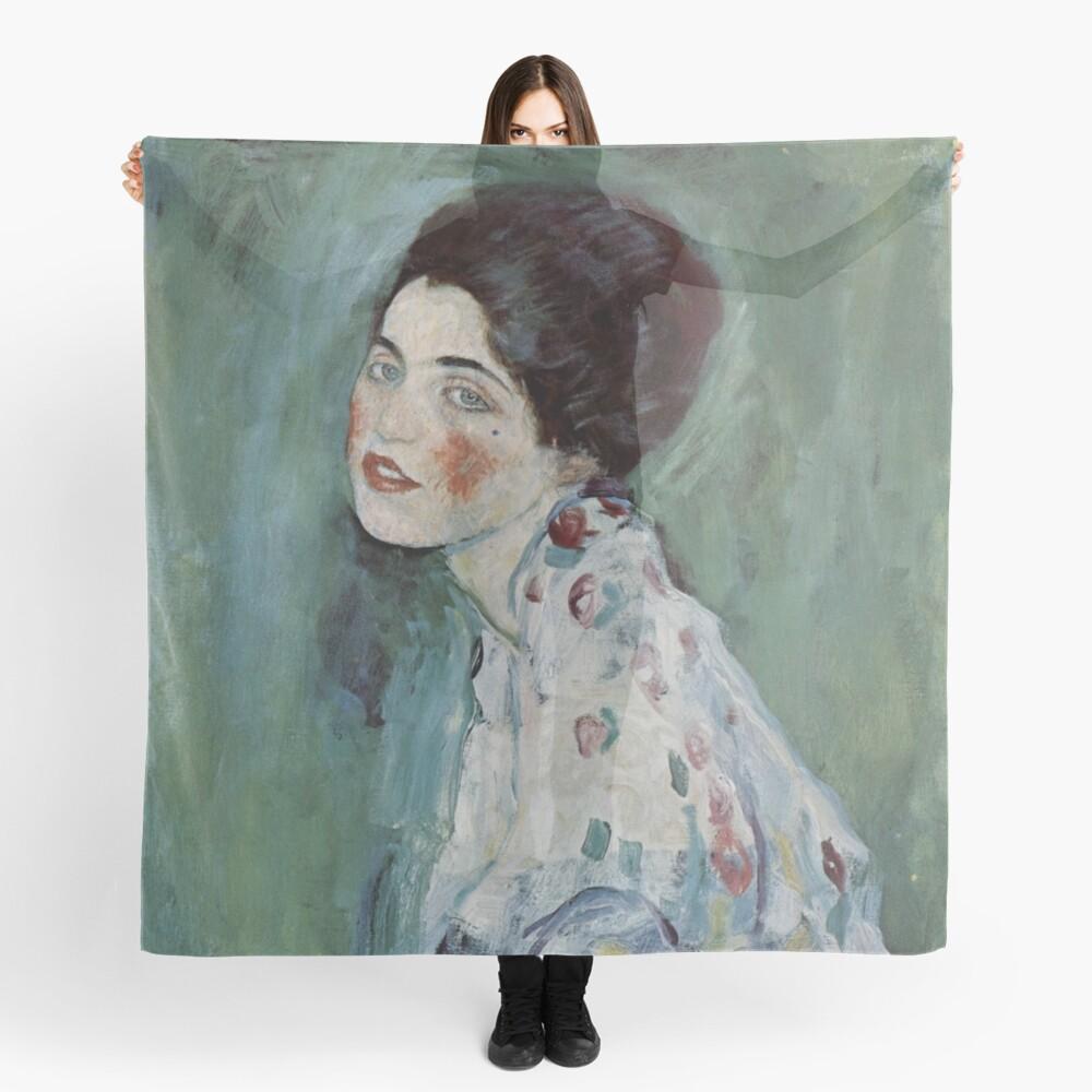 Stolen Art - Portrait of a Lady by Gustav Klimt Scarf