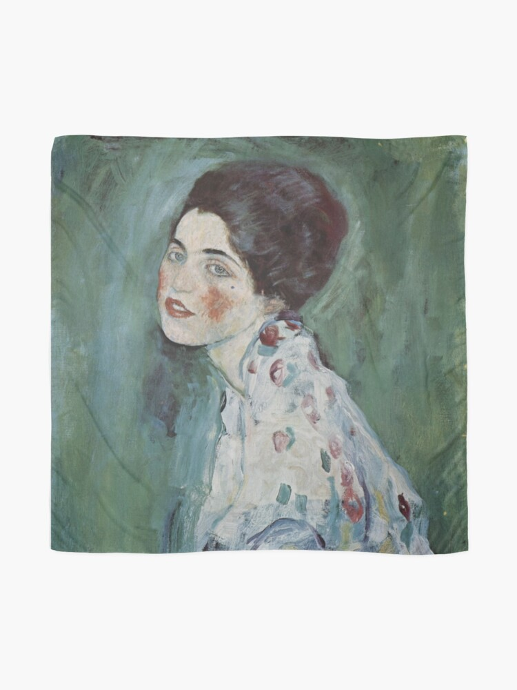 Alternate view of Stolen Art - Portrait of a Lady by Gustav Klimt Scarf