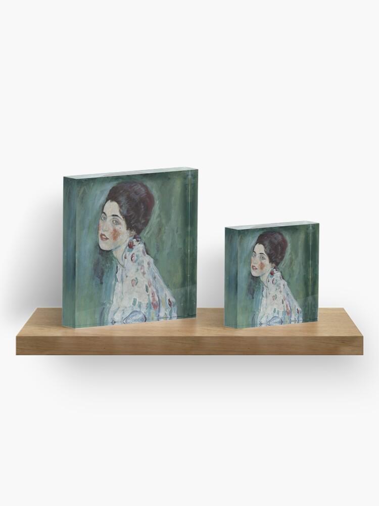 Alternate view of Stolen Art - Portrait of a Lady by Gustav Klimt Acrylic Block