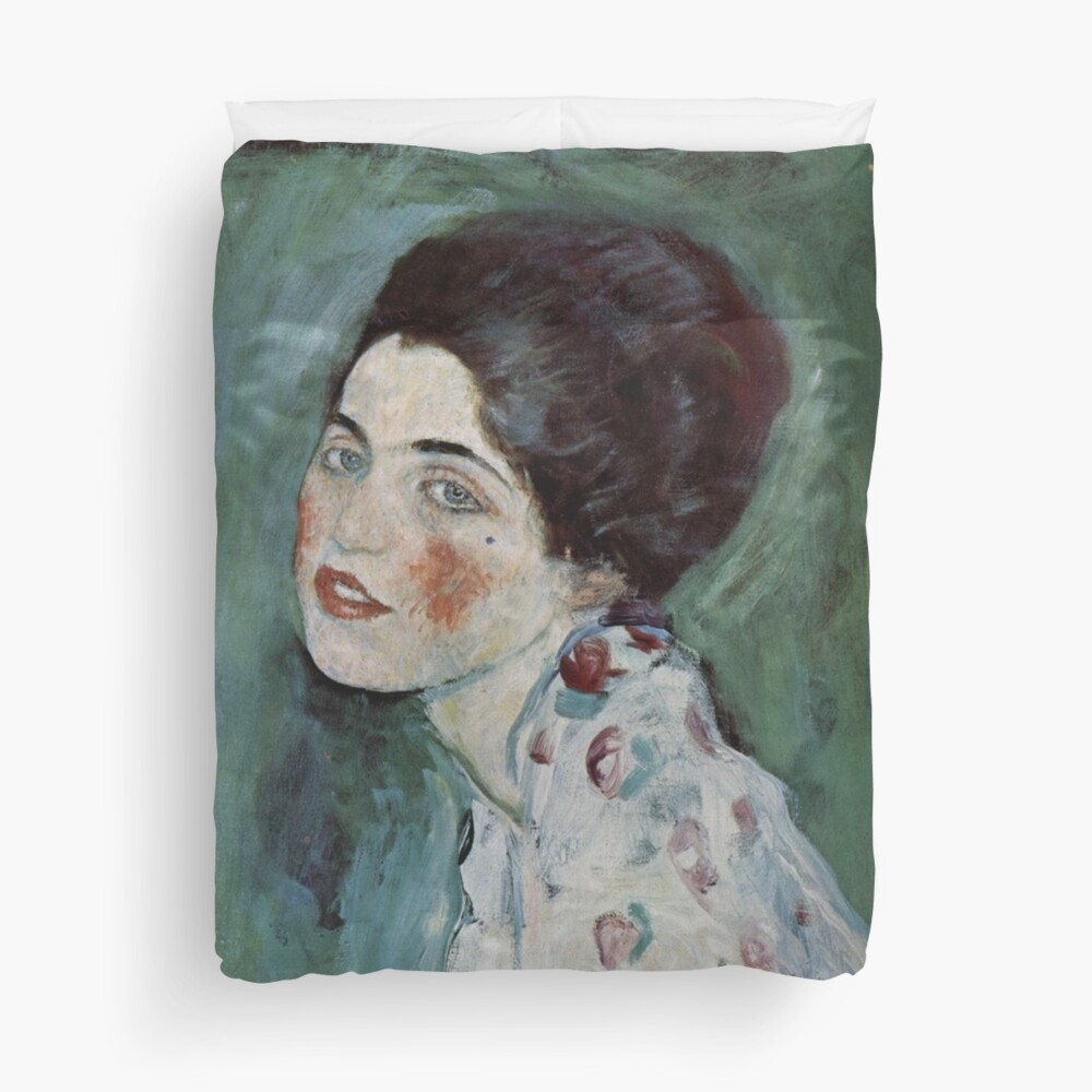 Stolen Art - Portrait of a Lady by Gustav Klimt Duvet Cover