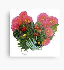 Lámina metálica Corazón (Cactus)