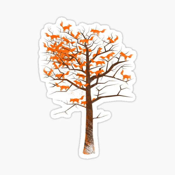 Blazing Fox Tree Sticker