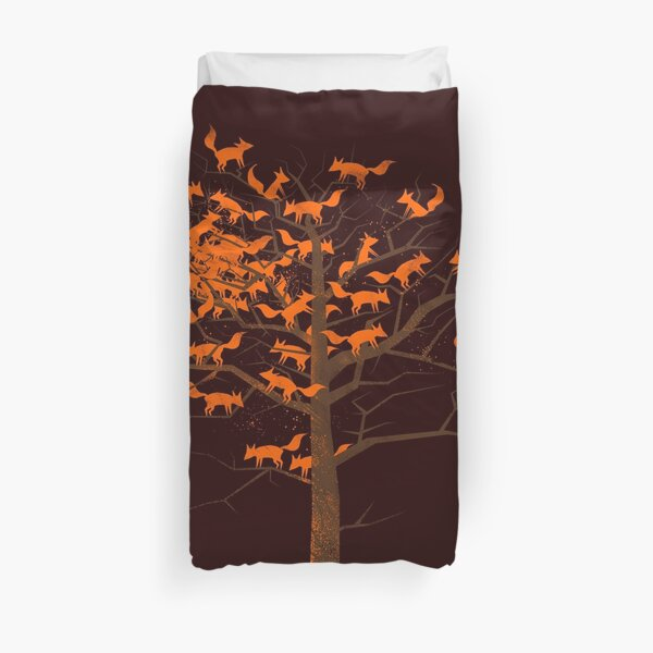 Blazing Fox Tree Duvet Cover