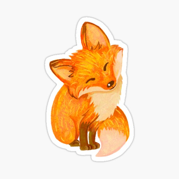 Happy Fox Sticker