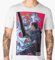 The Black Swordsman versus The White Hawk Men's Premium T-Shirt