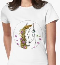 Wild Horse And Wild Flowers T-Shirt
