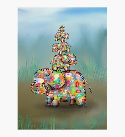 elephant jumble Photographic Print