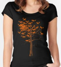 Blazing Fox Tree Women's Fitted Scoop T-Shirt