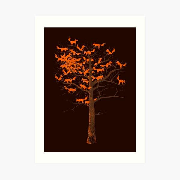 Blazing Fox Tree Art Print