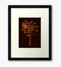 Blazing Fox Tree Framed Print