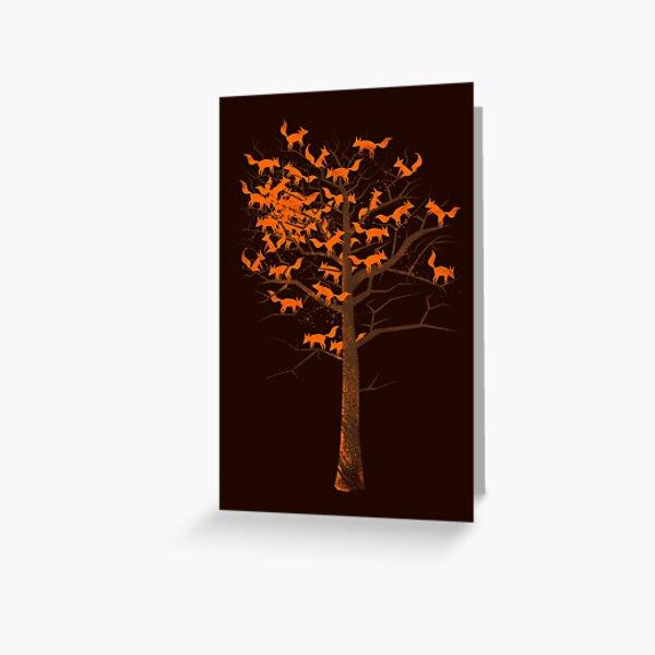 Blazing Fox Tree Greeting Card