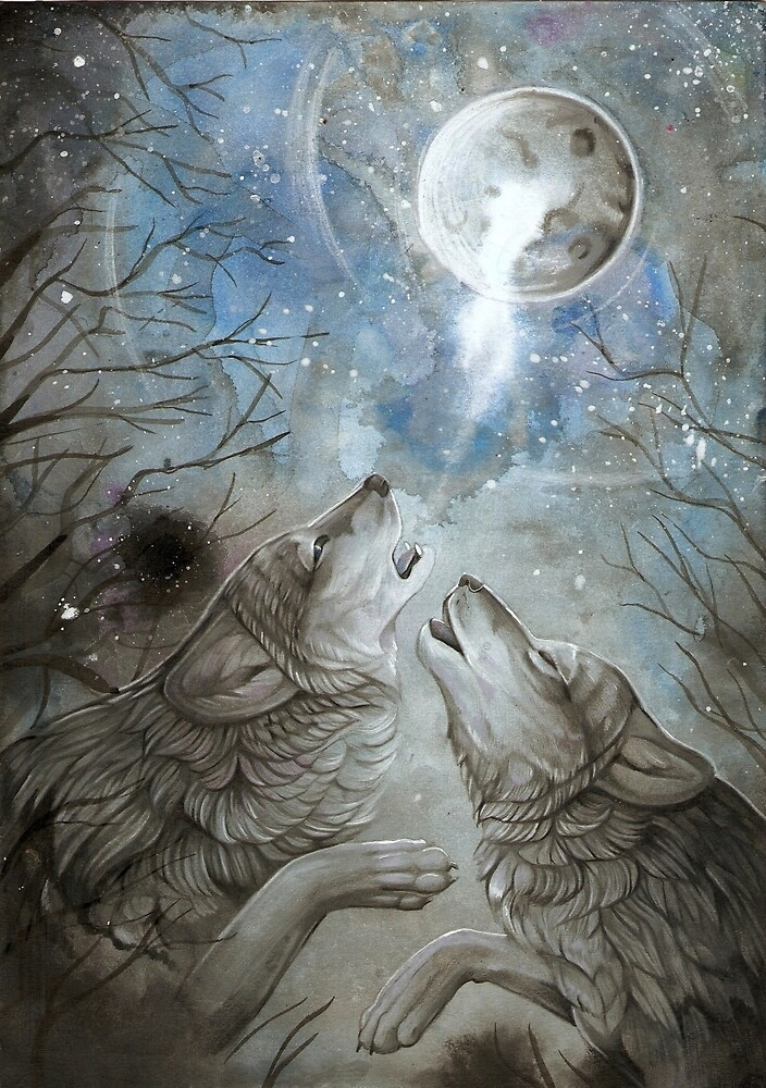 Moon Howl  by Dawn Paws