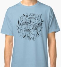 Fine Finches (linework) Classic T-Shirt
