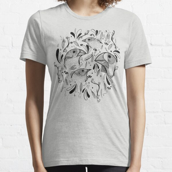 Fine Finches (linework) Essential T-Shirt