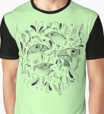 Fine Finches (linework) Graphic T-Shirt