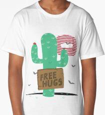 Cactus free hugs Long T-Shirt