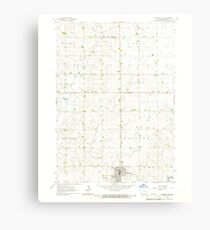 USGS TOPO Maps Iowa IA Orange City 175303 1964 24000 Canvas Print
