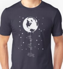 End of the Line - Earth Escape Hatch Astronauts - Image only in white T-Shirt