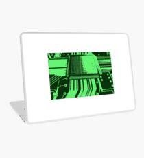 8-bit green pixel art microprocessor Laptop Skin