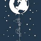 End of the Line - Earth Escape Hatch Astronauts - Image only in white by jitterfly