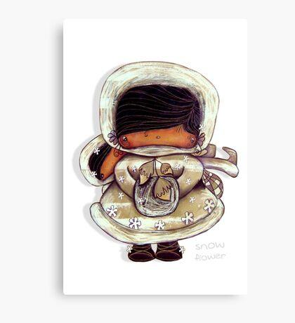 Snow Flower White Christmas Canvas Print