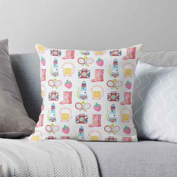 British Summer Time Pattern 2 Throw Pillow