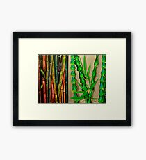 Bamboo Canes Diptych Framed Print