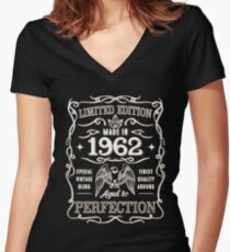 Made In 1962 Birthday Gift Idea Women's Fitted V-Neck T-Shirt