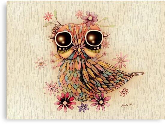 little flower owl by © Karin Taylor