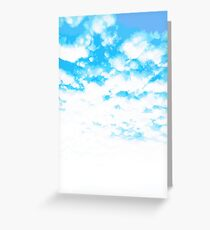 """""""Cloud At Last"""" #Sky #Blue #Spring #Outdoors Greeting Card"""