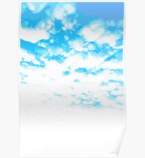 """""""Cloud At Last"""" #Sky #Blue #Spring #Outdoors Poster"""