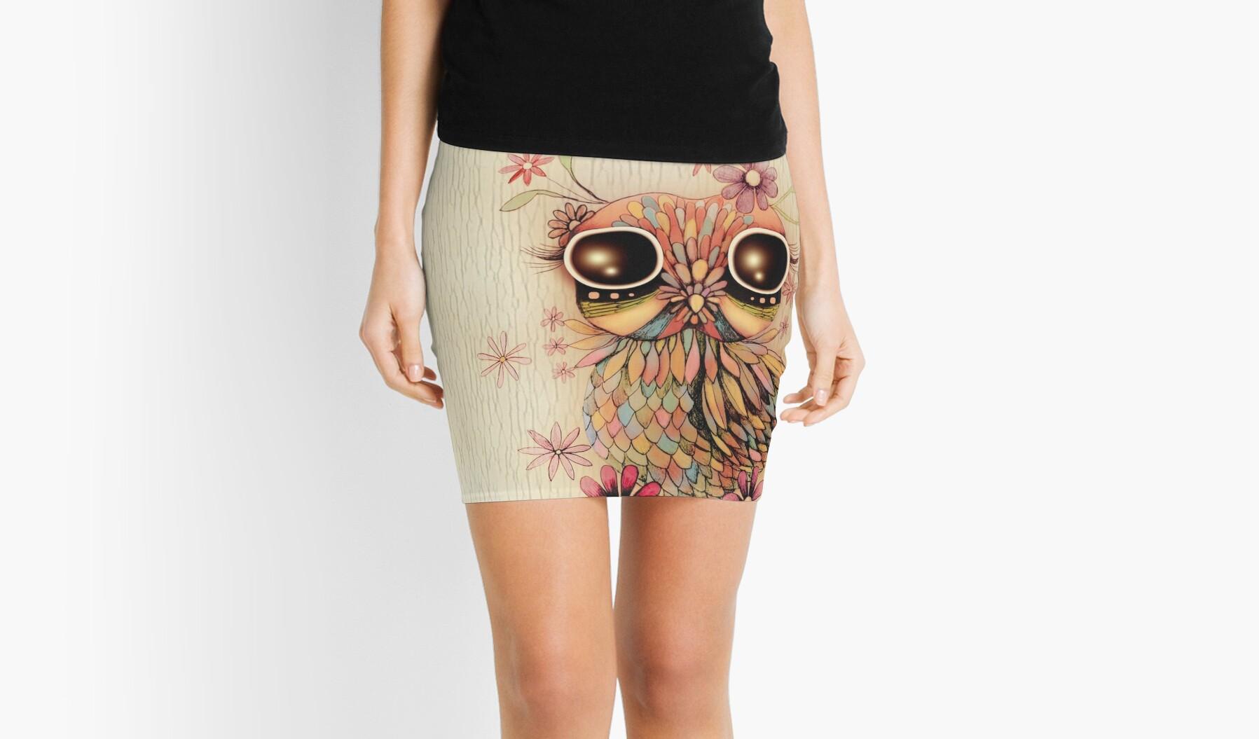 little flower owl by Karin Taylor