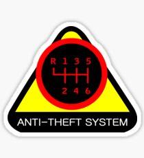 Anti-Theft System (Pattern 5) (dark) Sticker