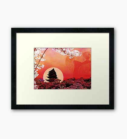 RISING SUN Framed Print
