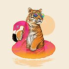 Chillin (Flamingo Tiger) by 38Sunsets