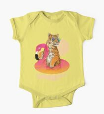 Chillin, Flamingo Tiger Kids Clothes