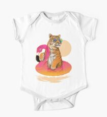 Chillin, Flamingo Tiger One Piece - Short Sleeve