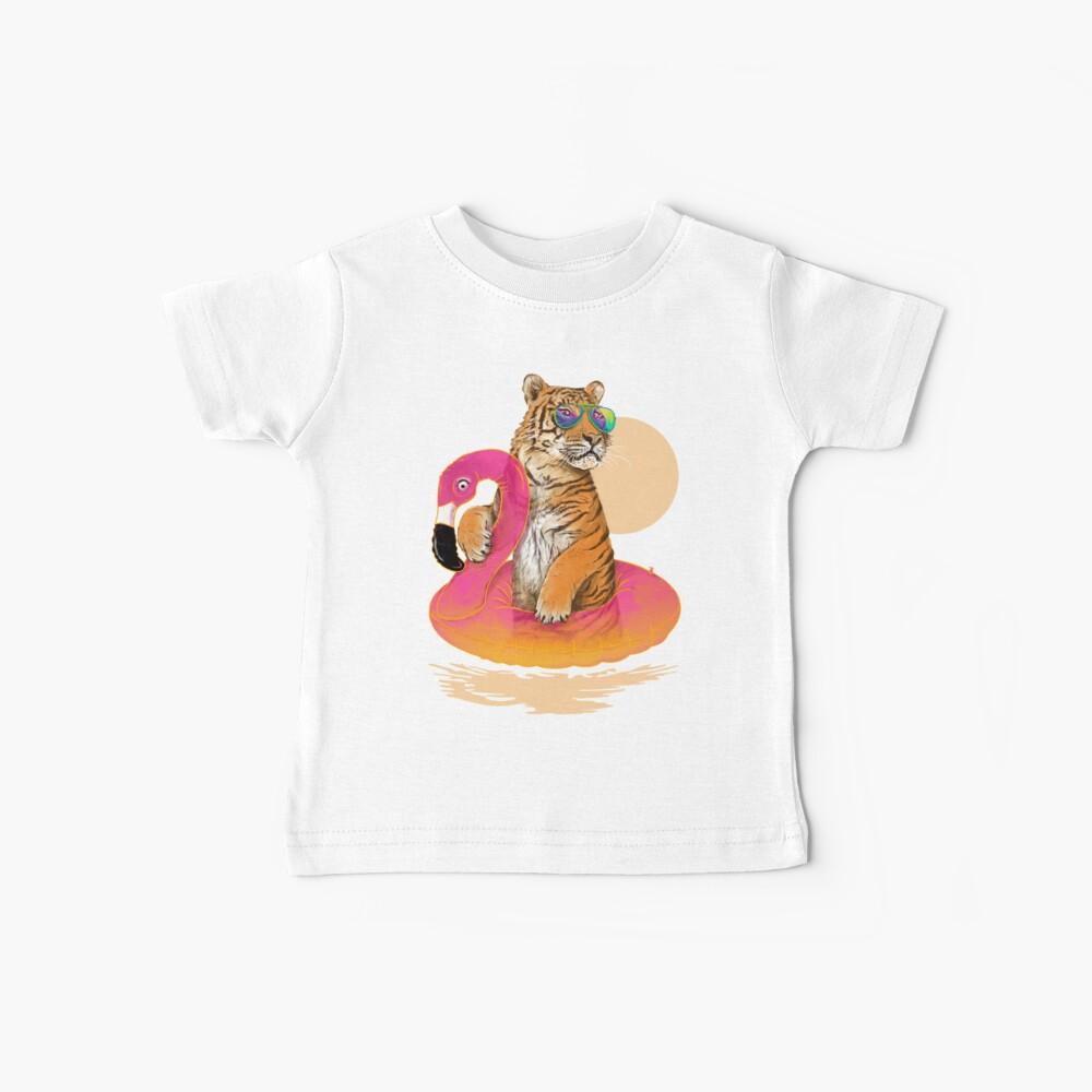 Chillin, Flamingo Tiger Baby T-Shirt