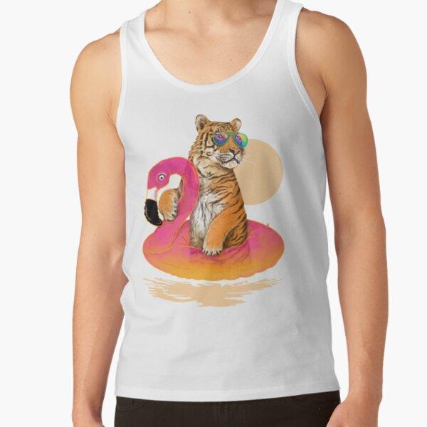 Chillin, Flamingo Tiger Tank Top