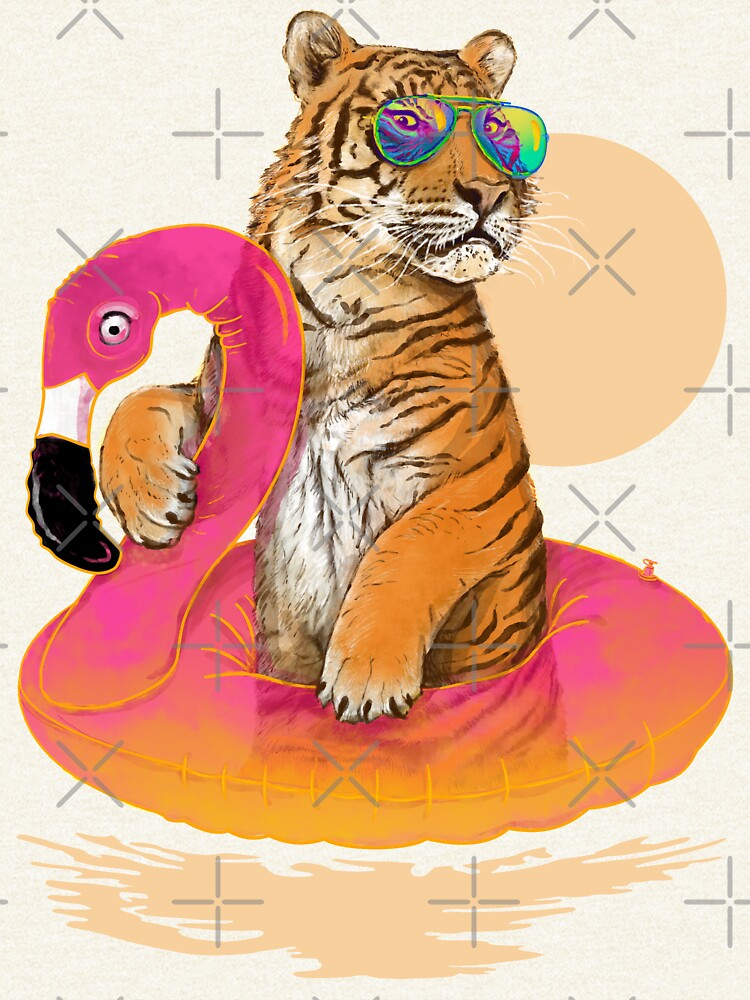 Chillin, Flamingo Tiger by 38Sunsets