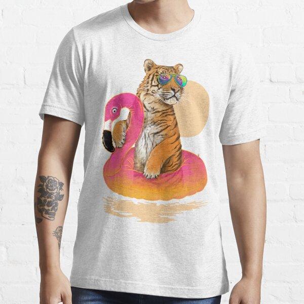 Chillin, Flamingo Tiger Essential T-Shirt