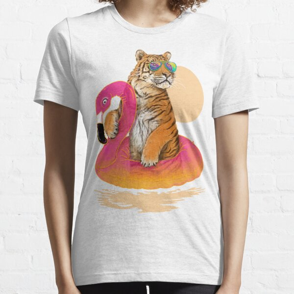 Chillin, Flamingo Tiger Essential T-Shirt