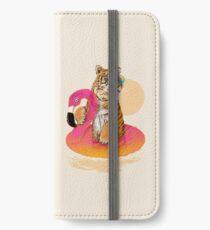 Vinilo o funda para iPhone Chillin, tigre flamenco