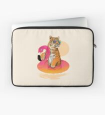 Chillin, Flamingo Tiger Laptop Sleeve