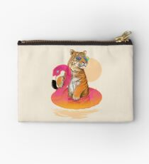 Chillin, Flamingo Tiger Studio Pouch