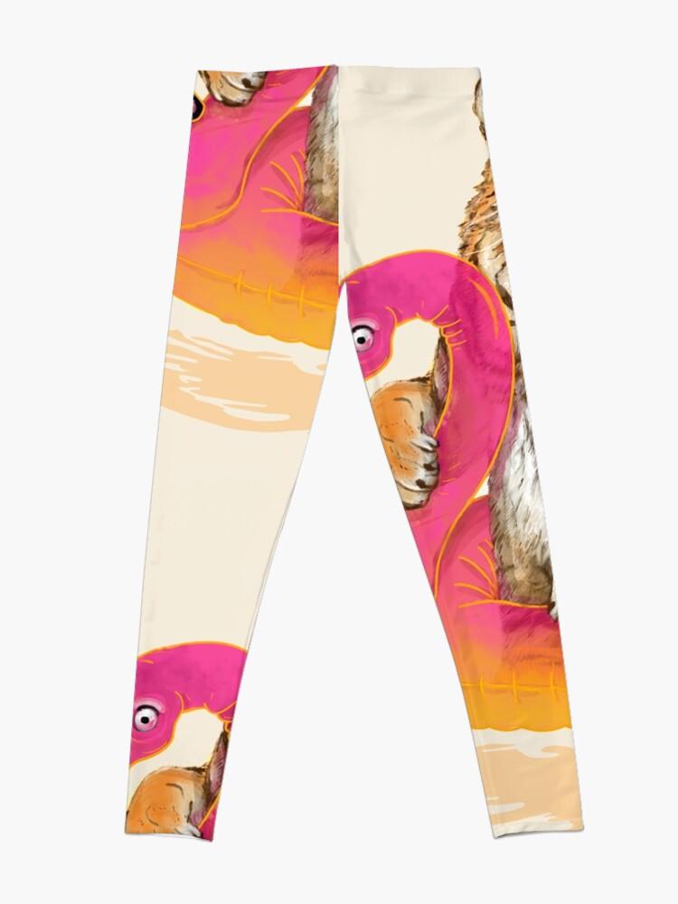 Alternate view of Chillin, Flamingo Tiger Leggings