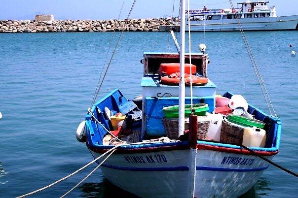 Greek Boat by EmmaLouiseLayla