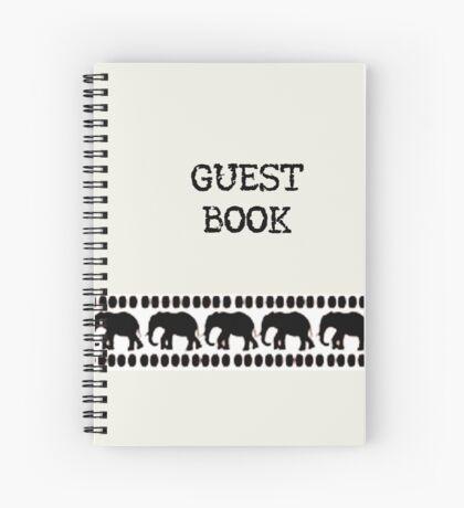Lodge décor - Crisp White & Black Spiral Notebook
