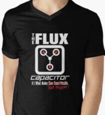 The Flux Capacitor - The Dark Side - Makes $#it Happen Men's V-Neck T-Shirt