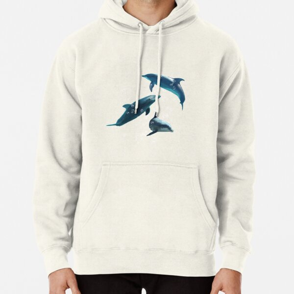 Dolphins in the Sea Pullover Hoodie